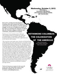 Rethinking Columbus, Professional Development, Education