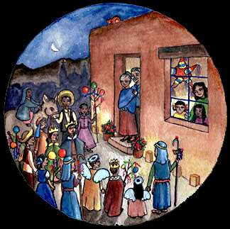 Www resources for teaching las posadas vamos a leer for Pinturas navidenas