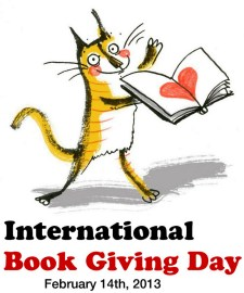 Book Giving Day Cat