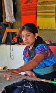 Photograph of Maya woman weaving in Chiapas, Mexico, provided courtesy of Beth Dove, © 2009.