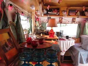 Laura Resau's Office - image from the Ocean in a Saucer blog.