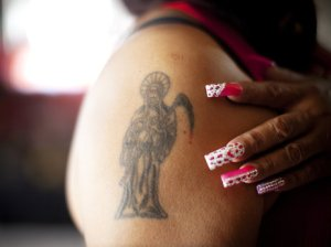 Santa Muerte - Image from NPR Borderland: Dispatches