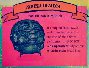 Lucha - inside page Cabeza Olmeca - X - Pro
