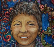 painting of Gloria Anzaldua