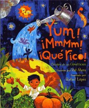 Children's Book Review: Yum! ¡Mmm! ¡Qué Rico! Brotes de las Américas by Pat Mora | Vamos a Leer